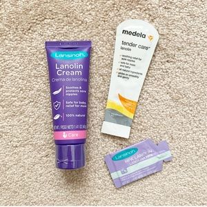 Lansinoh full-size lanolin nipple cream + samples